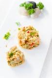中国烹调盐味的蔬菜 库存图片