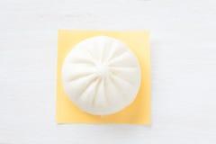 中国烹调蒸的小圆面包 免版税图库摄影
