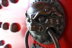 中国狗fu狮子葡萄酒 免版税库存照片