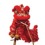 中国狮子服装 免版税图库摄影