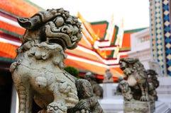 中国狮子石头玩偶 库存照片