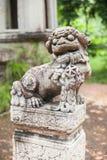 中国狮子石头雕象 库存照片