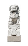 中国狮子雕象石头 免版税库存图片