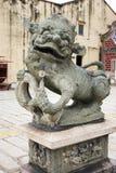 中国狮子雕象 库存照片