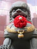 中国狮子雕象 库存图片