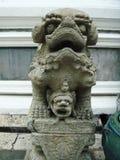 中国狮子雕象 图库摄影