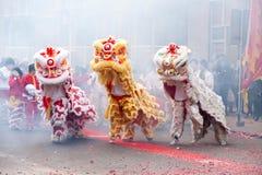 中国狮子 免版税库存照片