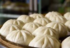 中国猪肉小圆面包 库存图片