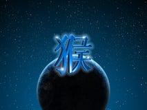 中国猴子黄道带 免版税库存照片