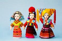 中国玩偶少数民族 图库摄影