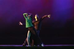中国现代二重奏舞蹈演员 图库摄影