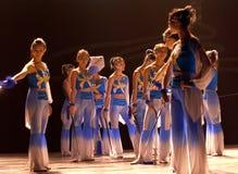 中国现代舞蹈演员 免版税库存照片