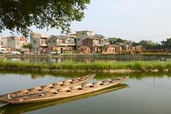 中国现代村庄 免版税库存图片