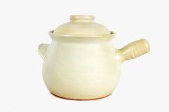 中国瓦器罐 免版税库存照片