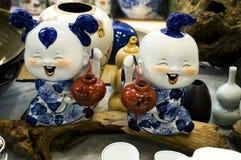 中国瓷玩偶 库存照片
