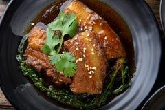 中国甜点蒸的猪肉 免版税图库摄影
