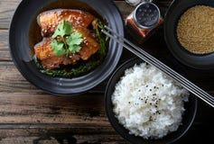 中国甜点蒸的猪肉 库存图片