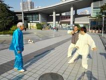 中国男人和妇女实践上实践tai池氏 库存照片