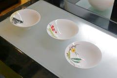 中国白色瓷碗 免版税图库摄影