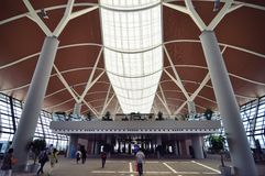 中国的上海浦东机场 免版税库存照片