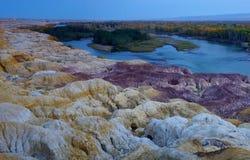 中国的五颜六色的海滩 免版税库存照片