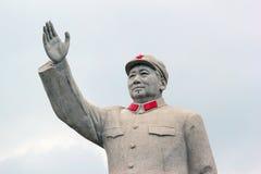中国的前毛泽东主席雕象  免版税库存图片