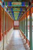 中国的古老走廊 免版税库存照片