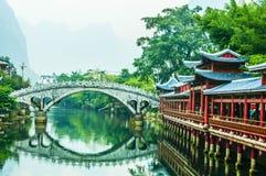中国的古老水镇 免版税库存照片