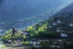 中国的四川Jiaju西藏村庄  库存照片