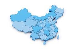 中国的地图有省的 免版税库存照片