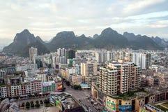 中国的广西省,一个著名旅游城市,贺州市 免版税图库摄影