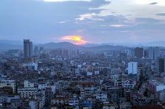 中国的广西省,一个著名旅游城市,贺州市 库存图片