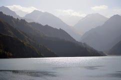 中国的新疆tianshan tianchi 免版税库存图片