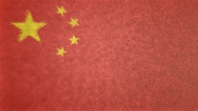 中国的旗子的原始的3D图象 库存图片