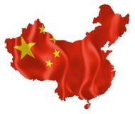 中国的映射 免版税库存图片
