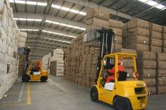 中国的棉花导入40% 免版税库存照片