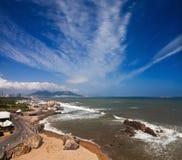 中国的海岸线 免版税库存图片