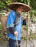中国的老妇人 免版税库存照片