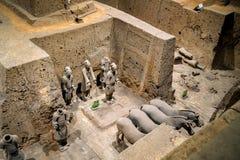 中国的赤土陶器战士 免版税库存图片