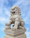 中国皇家狮子雕象 免版税库存图片