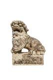 中国皇家狮子雕象 免版税图库摄影