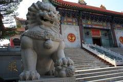 中国皇家狮子雕象  免版税库存照片