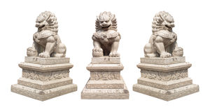 中国皇家狮子雕象 库存照片