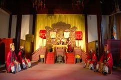 中国皇帝暂挂现场仪式 免版税库存照片
