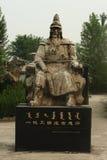 中国皇帝雕象 图库摄影
