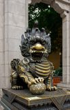 中国监护人狮子 免版税库存图片