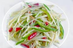 中国盘土豆细片 免版税库存照片