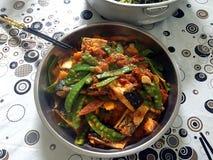 中国盘食物餐馆蔬菜 免版税图库摄影
