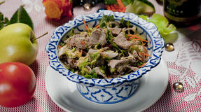 中国盘食物 图库摄影