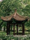 中国眺望台在公园 免版税图库摄影